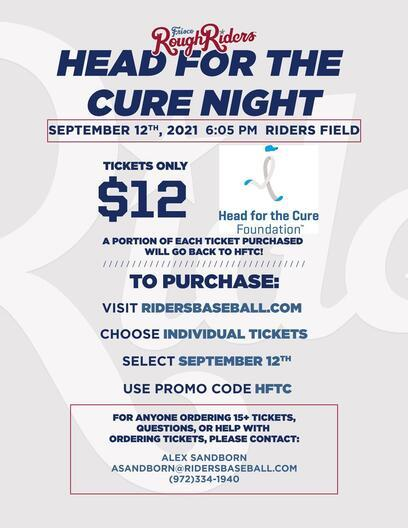 Frisco Roughriders Head for the Cure Giveback 2021